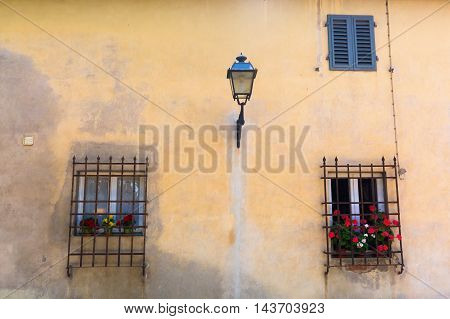 Windows At A House In Italy
