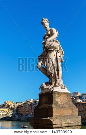 Historic Statue In Florence, Italy