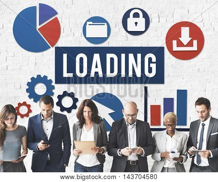 Loading Downloading Online Internet Concept