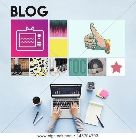 Blog Content Internet Post Site Social Story Web Concept