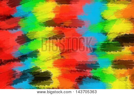 red yellow blue green and black painting texture abstract background