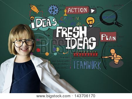 Fresh Ideas Innovation Creative Mission Concept