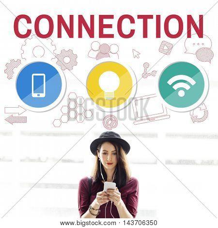 Technology Communication Icons Symbols Concept