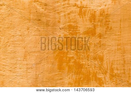 decorative antique look background texture of a terra cotta colored wall in Tuscany poster