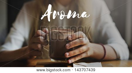 Aroma Mellow Beverage Cafe Hot Chocolate Enjoy Concept