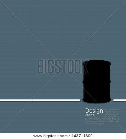 Illustration black oil barrel roll, logo template corporate style - vector