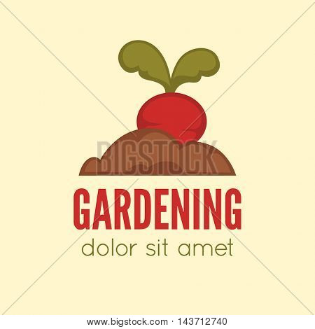 Garden center emblem or label, badge, gardening logo designed element. Vector Illustration.