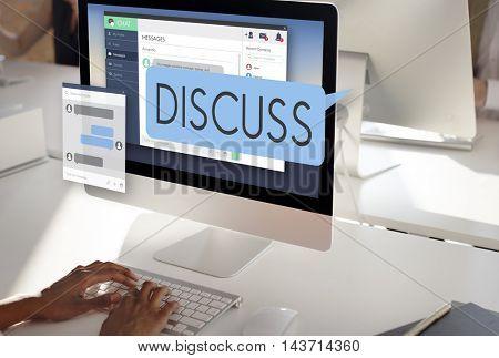 Discuss Discussion Argument Communication Concept