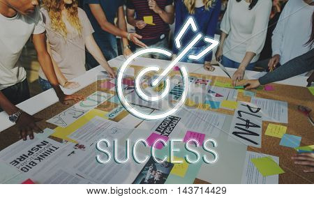 Business Success Aim Target Concept