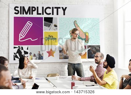 Teamwork Innovation Discussion Graphic Concept