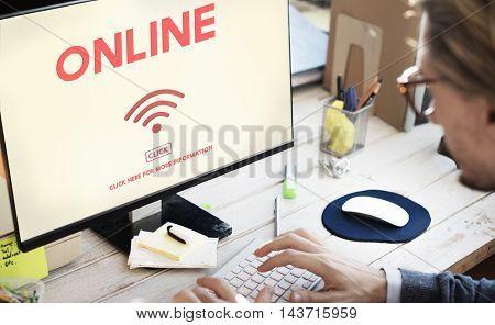 Wireless Technology Online Internet Concept