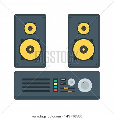 System, stereo, audio icon vector image. Can also be used for home. Suitable for web apps, mobile apps and print media.