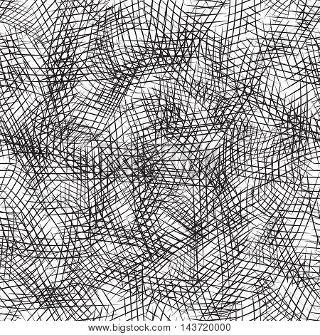 Seamless texture with the pencil strokes. Vector background for your creativity