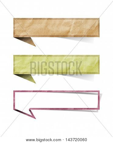 tag recycled paper on a white background