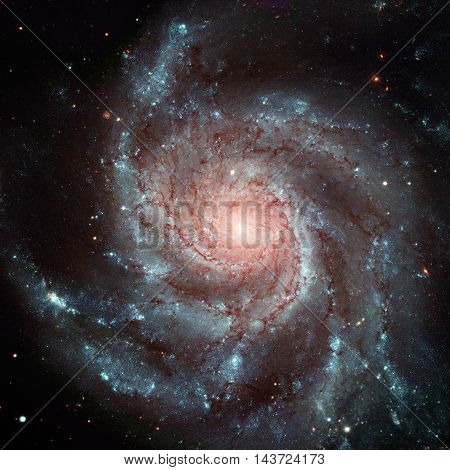Pinwheel Galaxy. Spiral Galaxy In The Constellation Ursa Major.