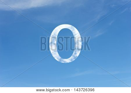 Abstract White Clouds Shape In The Sky.