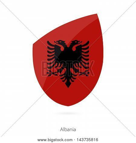 Flag Of Albania. Albanian Rugby Flag.