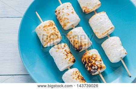 Marshmallow Skewers On The Plate