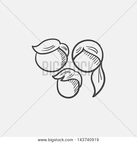 Family sketch icon for web, mobile and infographics. Hand drawn vector isolated icon.
