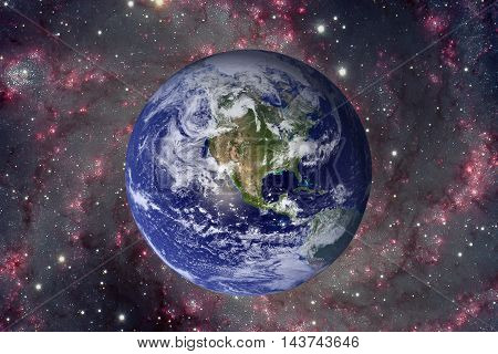 Solar System - Planet Earth. Elements Of This Image Furnished By Nasa.