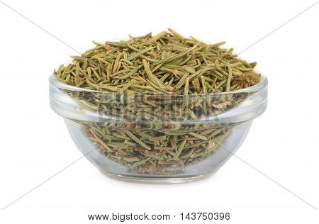 dry rosemary isolated on a white background