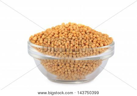 grain mustard isolated on a white background