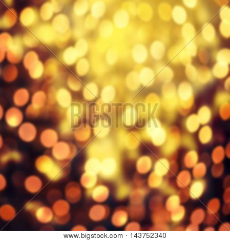 Christmas elegant abstract background with bokeh lights and stars. Glitter vintage lights background.