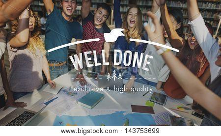 Teamwork Togetherness Achievement Success Goals Concept