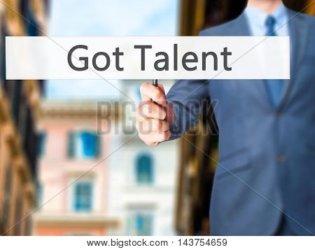Got Talent - Business Man Showing Sign