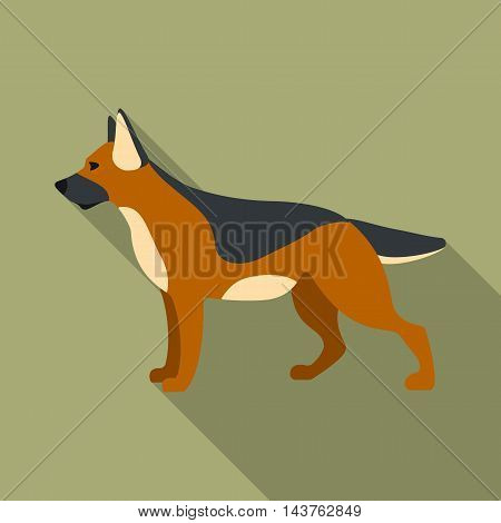 German shepherd vector illustration icon in flat design