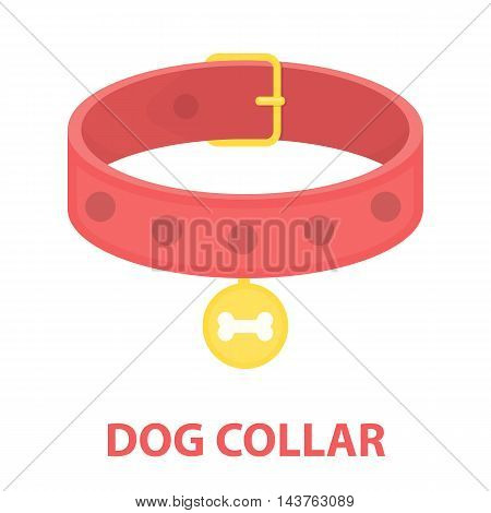 Dog collar vector illustration icon in cartoon design