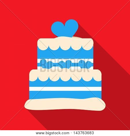 Cake vector illustration icon in flat design