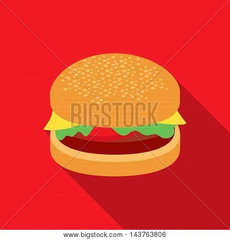 Burger vector illustration icon in flat design