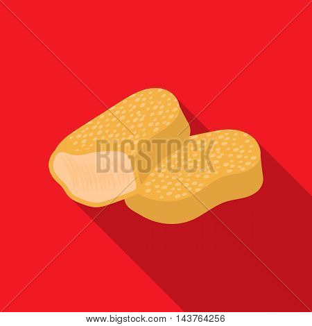 Nuggets vector illustration icon in flat design