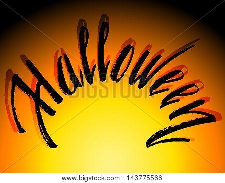Halloween Bloody Text Background. Halloween pumpkin background