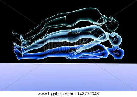 A 3d rendered Illustration. An Astral Projection.