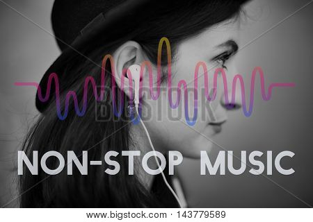 Music Waves Audio Lifestyle Concept
