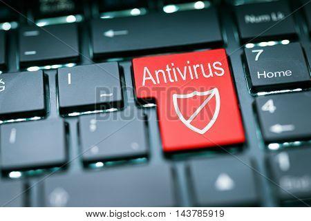Antivirus enter key high quality and high resolution studio shoot