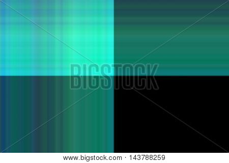 Illustration of blue, green and black smudged squares
