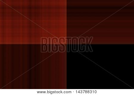 Illustration of red and black smudged squares