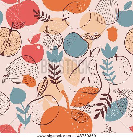 Autumn harvest seamless pattern