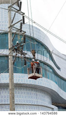 Service Electrict Hight Voltage Line