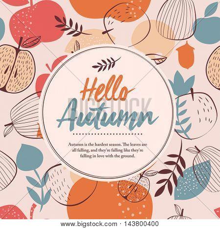 Hello autumn frame