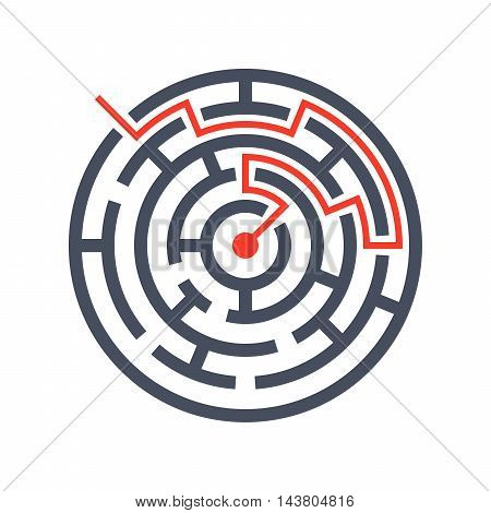Concept finding solutions  with maze through which passes the way.