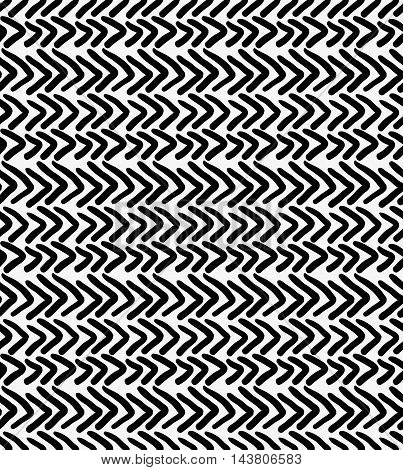 Black Marker Drawn Simple Chevrons