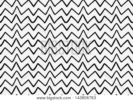 Black Marker Drawn Simple Uneven Zigzag