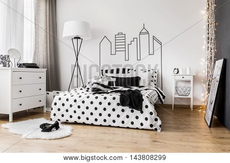 Morning Mess In Woman's Bedroom