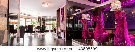 Shiny Purple Interior
