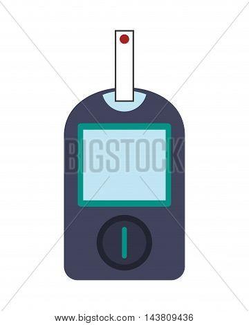 flat design single glucometer icon vector illustration