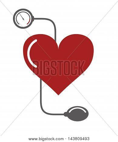 flat design blood pressure cuff icon vector illustration